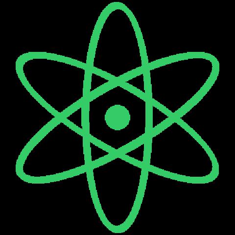 Icône d'un atome vert