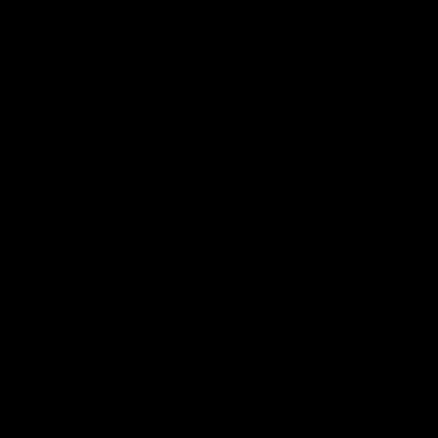 Icône d'un atome noir