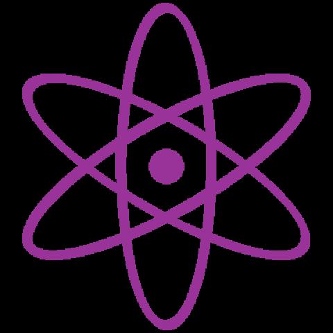 Icône d'un atome violet